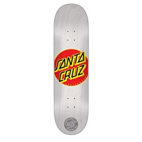 Santa Cruz Classic Dot Skateboard Deck - White 7.7