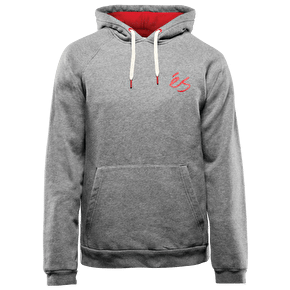eS Script Pullover Hoodie - Grey Heather