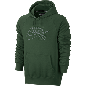 Nike SB Icon Reflective Hoodie - Gorge Green/Reflective Silver