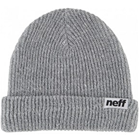 Neff Fold Beanie - Heather Grey/White