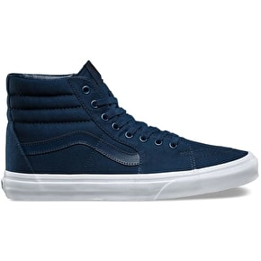 Vans Sk8-Hi Skate Shoes - (Mono Canvas) Dress Blues/True White