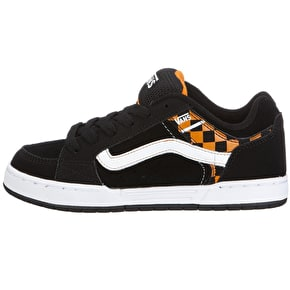 Vans Skink Youth Skate Shoes - Black/Orange Check UK Junior 13 (B-Stock)
