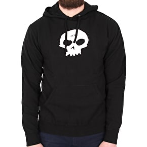 Zero Single Skull Hoodie - Black/White