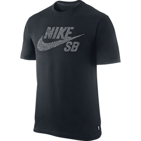 Nike SB Icon Dot T-Shirt - Black/White