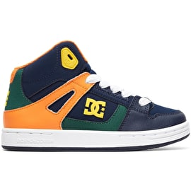 DC Pure High Top Kids Skate Shoes - Multi