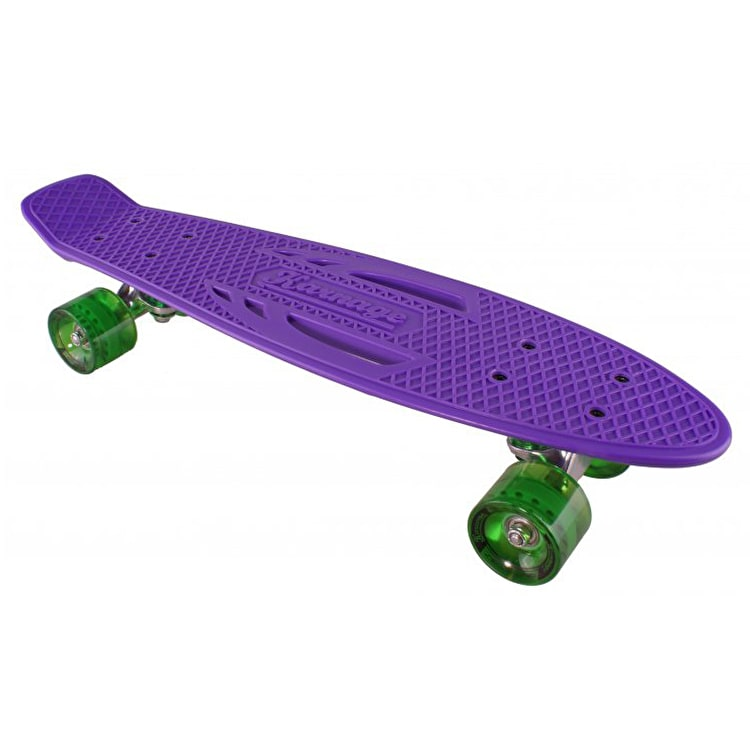"Karnage Retro Solid 23"" Complete Skateboard - Purple/Green"