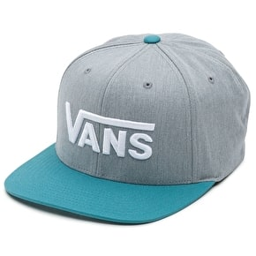 Vans Drop V Snapback Cap - Heather Grey/Larkspur