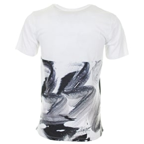 Hype Brushstroke T-Shirt - Black/White