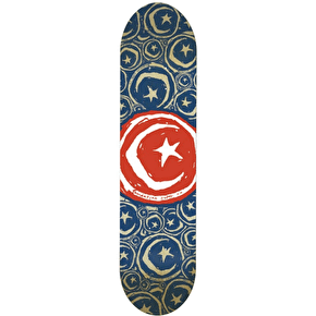 Foundation Star & Moon Stickered Team Skateboard Deck - Red 8.5
