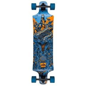 D-Street Underwater Shipwrecked Drop Down Longboard - Blue 40