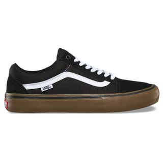 Vans Old Skool Pro Skate Shoes - Black/White/Medium Gum UK 6
