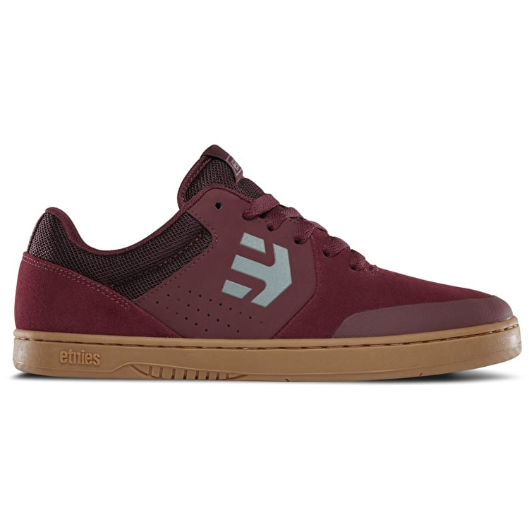 Etnies Marana Skate Shoes - (Reyes) Burgundy/Tan