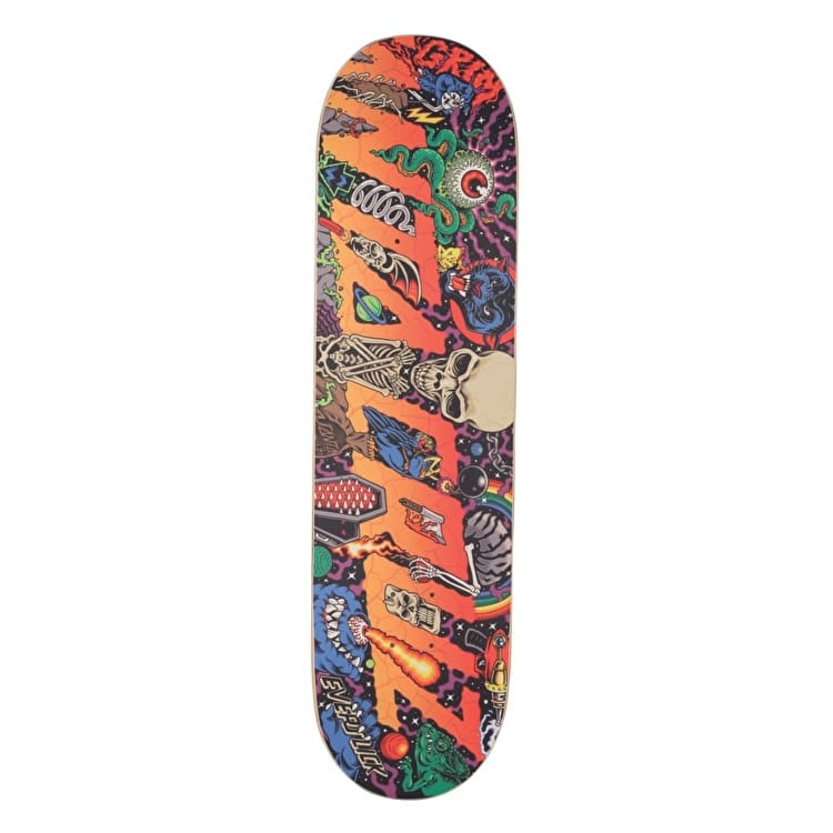 Santa Cruz Pitchgrim Universe Everslick Skateboard Deck - Multi 8.375""