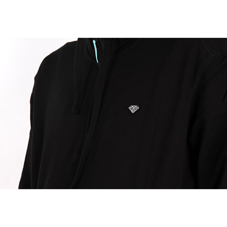 Diamond Supply Co Diamante Mock Neck Pullover Hoodie - Black