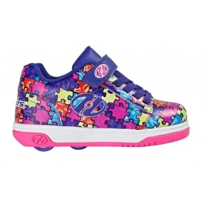 Heelys X2 Dual Up - Purple/Neon Multi/Puzzle