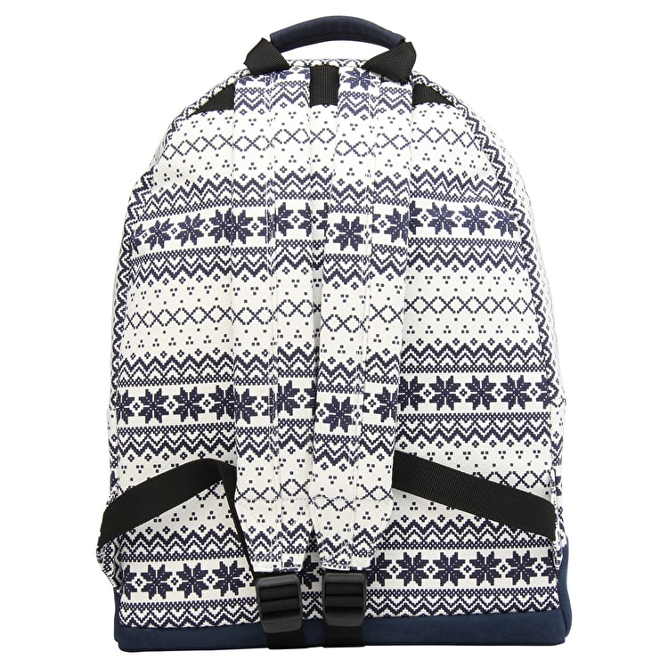 Mi-Pac Fairisle Backpack - Navy/White