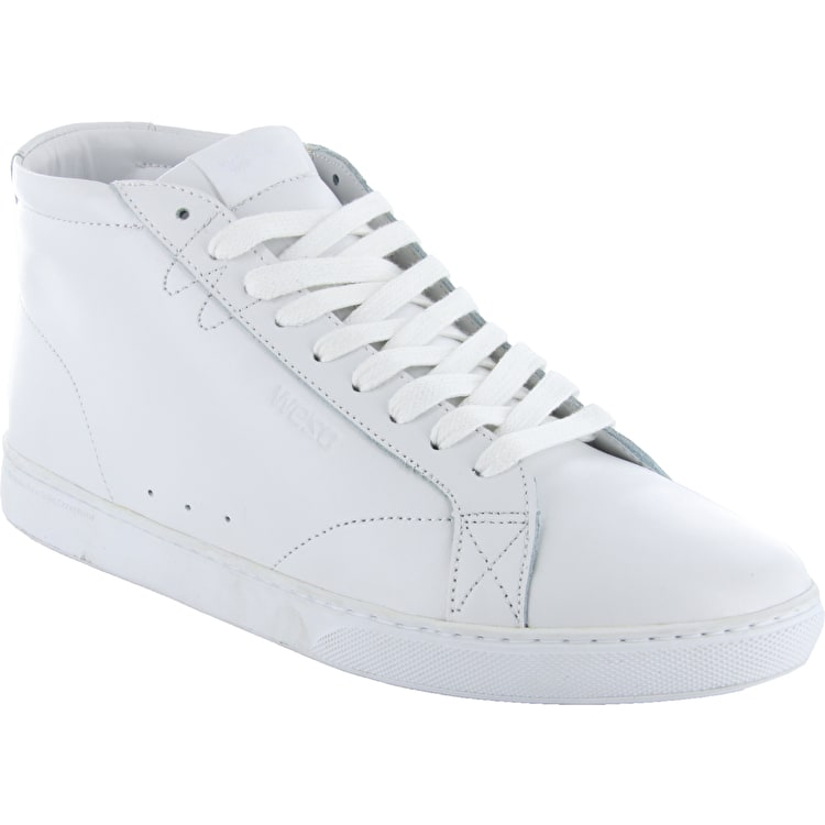WeSC Lifestyle Clopton Mid Shoes - White Leather