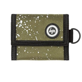 Hype Speckle Trifold Wallet - Khaki/White