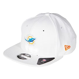 New Era 9FIFTY NFL Miami Dolphins Border Edge Pique Cap - White