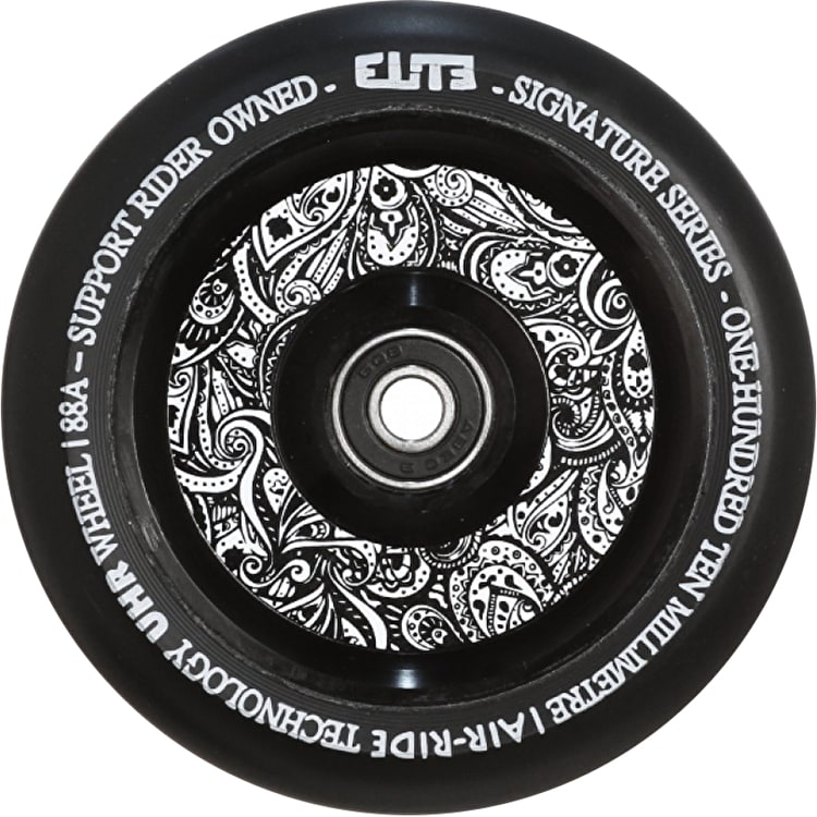 Elite Floral Air-Ride 110mm Scooter Wheel - Black