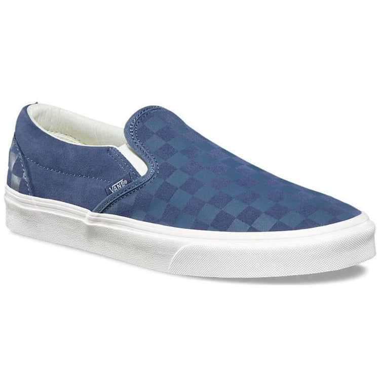 Vans Classic Slip-On Shoes - (Checker Emboss)Vintage Indigo/Marshmallow