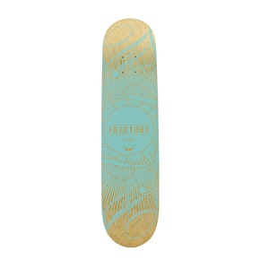 Fracture Skateboard Deck - DB15 Teal 7.5