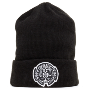 Rebel8 Until Death Cuffed Beanie - Black