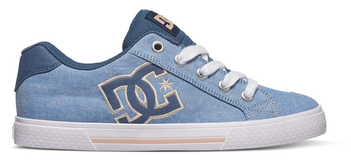 Image of DC Chelsea Womens TX SE Skate Shoes - Navy/White