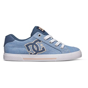 DC Chelsea Womens TX SE Skate Shoes - Navy/White
