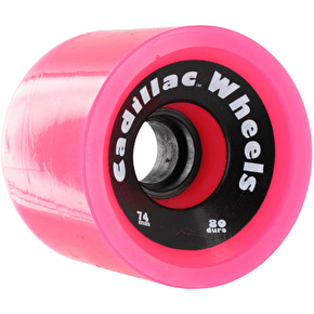 Cadillac Cruiser 74mm 80a Longboard Wheels - Pink (Pack of 4)