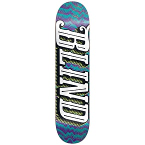 Blind Line Up Skateboard Deck - Purple/Teal 8