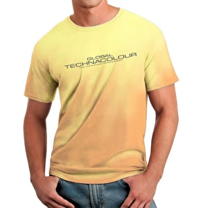 Global Technacolour Graphic T-Shirt Orange to Yellow