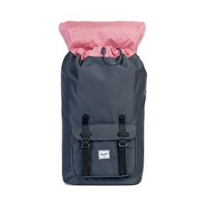 Herschel Little America Backpack - Dark Shadows/Black Synthetic Leather
