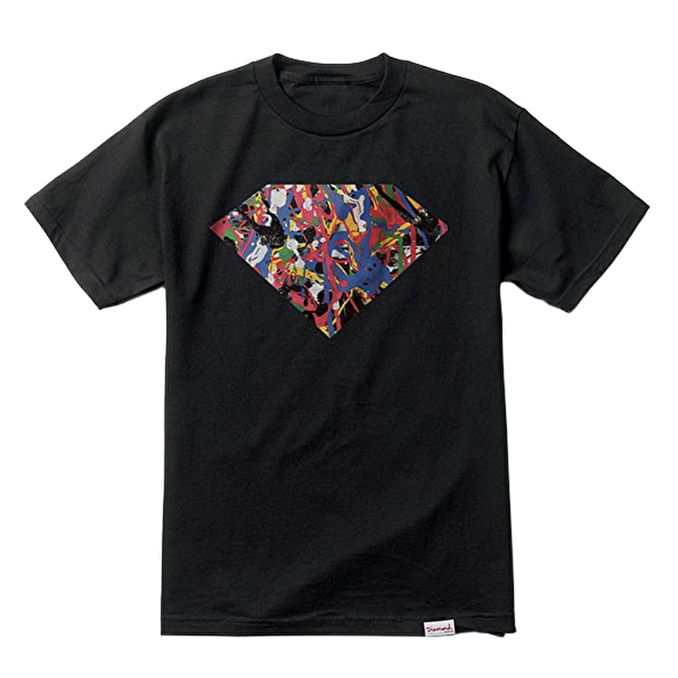 Diamond Painted Diamond T-Shirt - Black