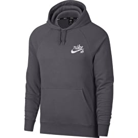 Nike SB Icon Hoodie - Black/Dark Grey/White