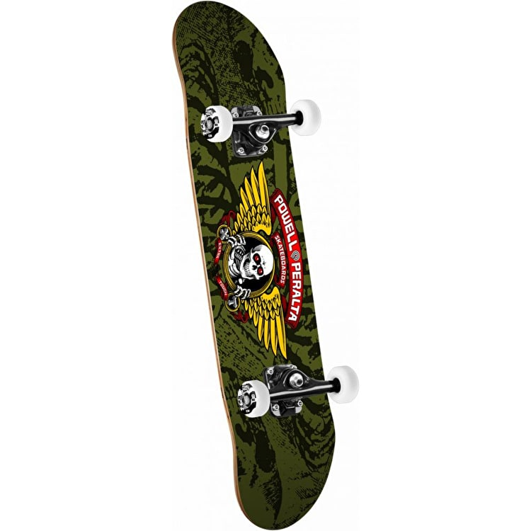 """Powell Peralta Winged Ripper Complete Skateboard - Olive 7.5"""""""