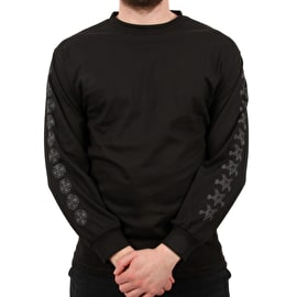 Independent x Thrasher Pentagram Cross Long Sleeve T Shirt - Black