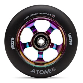 Lucky Atom 110mm Scooter Wheel - Neochrome/Black (Single)