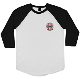 Independent Two Tone Baseball T Shirt - White/Black