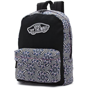 Vans Realm Backpack - (Checker Kaleidescope) True White
