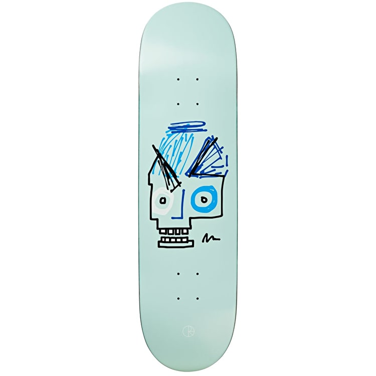 "Polar Insta Skull Skateboard Deck 8.5"" - Light Blue"