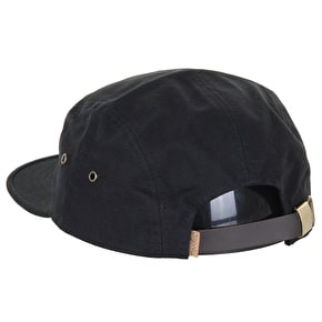 Organika Badge 5 Panel Cap - Black