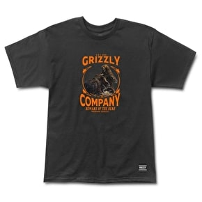 Grizzly Bear Brawl T-Shirt - Black