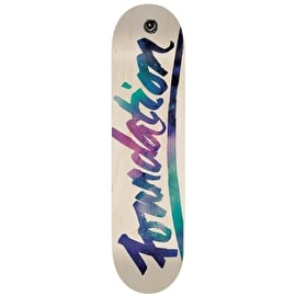 Foundation Script Space Skateboard Deck - 8.25