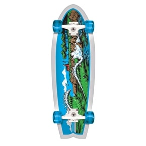 Santa Cruz Land Shark The Point Complete Cruiser - Blue/White 27.7