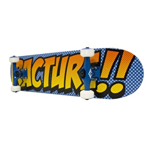 Fracture Comic 3 Mini Skateboard - Blue/Orange 7.25