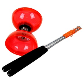 Juggle Dream Cyclone Quartz 2 Diabolo/Ali Dream Sticks/DVD Pack - Red