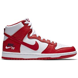 Nike SB Zoom Dunk High PR Skate Shoes - Universal Red