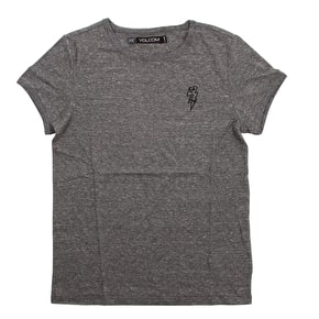Volcom Stayin High Ringer Womens T-Shirt - Charcoal