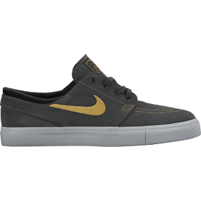 Nike Zoom Stefan Janoski Shoes - Anthracite/Metallic Gold